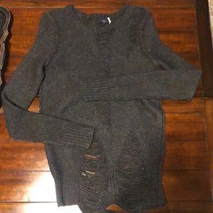 Sweater mini dress  XS like new gray